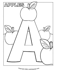 Small Picture A is for Apples Free Coloring Pages for Kids Printable