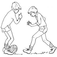 Disegno Di Giocare A Calcio Da Colorare Per Bambini