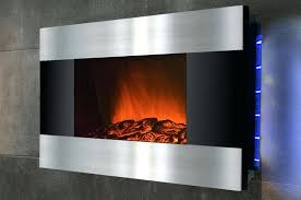 in wall electric fireplace heater s s napoleon wall mount electric fireplace with heater