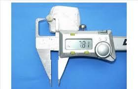 Thickness Of Tooth Measured Using Digital Vernier Caliper