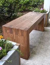 wooden zen garden bench
