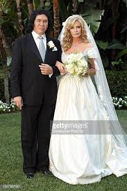 gene simmons wife wedding dress. gene simmons and shannon tweed wed at the beverly hills hotel on october 1 2011 in wife wedding dress h