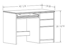 ikea mikael computer desk dimensions flarke small standard office metric desks picture ideal height rolling adjule