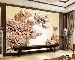 Beibehang Custom Behang Hoge End Drie Dimensionale Houtsnijwerk
