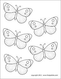 Also try other coloring pages from nature category. Butterflies Free Printable Templates Coloring Pages Firstpalette Com