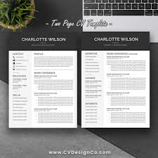 Best Selling Resume Cv Template The Charlotte Instant Download