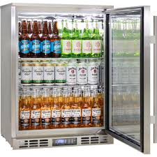 rhino 1 door heated glass door bar fridge front venting brand parts
