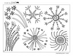 Small Picture Made by Joel 4th of July Fireworks Coloring Sheet