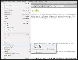 Dreamweaver Tutorial: Previewing your Dreamweaver pages in a web browser
