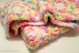 Bernat Baby Blanket Yarn Patterns Extraordinary MrsBrits Sweet And Chunky Baby Afghan Crochet Pattern