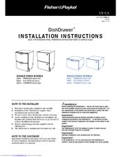 fisher paykel dishdrawer dsi integrated manuals fisher paykel dishdrawer ds603i integrated installation instructions manual