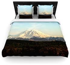 sylvia cook mt rainier mountain photo duvet cover contemporary duvet covers and duvet sets by kess global inc