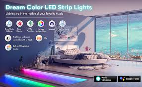 KORJO Led Strip Lights, 32.8ft <b>WiFi Music</b> Lights with Dream <b>Color</b> ...