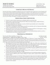 Recruiter Resume Sample Resume Zone
