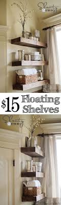 Master bath DIY Floating Shelves for the bathroom