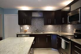 kitchen backsplash glass tile dark cabinets. Delighful Cabinets Kitchen Glass Tile Backsplash Ideas Cream Ceramic Area Floor Brown  Laminated Storage Cabinet Stainless Steel Countertop To Dark Cabinets Y