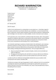 Cover Letter Example For Job Application A Concise And Focused Cover