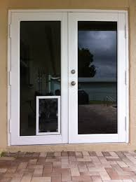 french door with dog door exterior door with built in pet door large dog