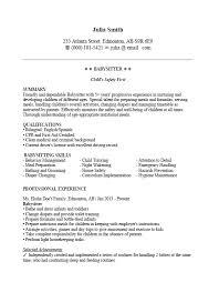 resume same best babysitting resume sample and format clr