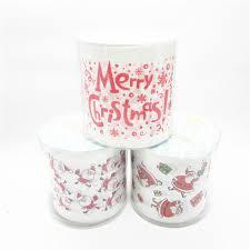 3packs 30m/pack Christmas design Printed napkin Paper Toilet Tissues Roll  Novelty Toilet Tissue Wholesale