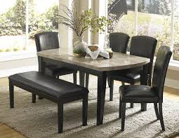 granite top dining table set. Elegant Granite Dining Table Set With Black Chairs And Fur Rug Top I