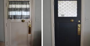Door : Exceptional Front Door Half Window Curtains Imposing Front ...