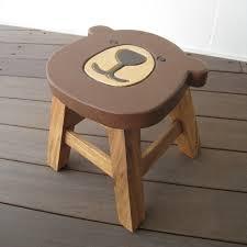 present round stool bear shape that a stool kids chair wooden high chair rakuten baby