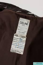 celine crocodile leather coat dark brown