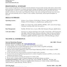 Resume Qualifications Summary Sample Summary Of Qualifications For Resume shalomhouseus 32