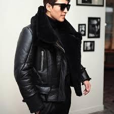 2019 2018 new mens winter lamb wool real fur aviator jacket fur lining motorcyle shearling leather coat slim fit flight er jacket from vanilla01