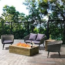 2pcs outdoor propane fire pit table set