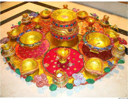Mehndi Tray Decoration Colours and Joy Mehndi thaalhenna tray 18