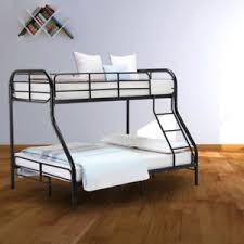 metal bunk bed twin over full. Image Is Loading Metal-Bunk-Bed-Twin-over-Full-Ladder-Kids- Metal Bunk Bed Twin Over Full