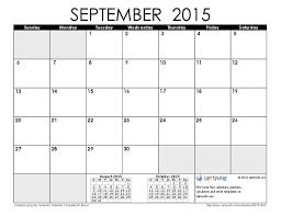 September 2015 Calendar With Clipart Clip Art Images 2350