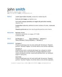 Gallery Of Simple Modern Resume Template For Pages Free Iwork