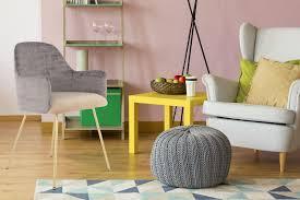 Stuhl Polsterstuhl Modern Design Metallbeine Wohnzimmer Esszimmer Grau Beige