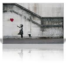 wall26 there is always hope balloon girl by banksy graffiti canvas prints wall art  on girl with umbrella wall art with wall26 there is always hope balloon girl by banksy graffiti canvas