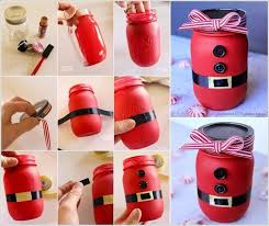 Decorated Jam Jars For Christmas Make A Cute Mason Jar Santa Like This One For The Coming Christmas 33