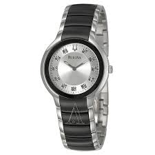 bulova diamonds 98d118 men s watch watches bulova men s diamonds watch
