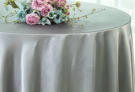 132 round satin tablecloth silver 55940 1pc pk