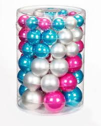 60x Glas Christbaumkugeln 4 5 6 7 Cm Lollipop Weihnachtskugeln Perle Türkis Pink