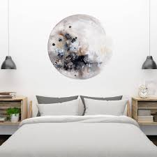 moon wall decal silver moon removable