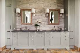 rustic gray bathroom vanities. Interior Designers Richmond Bathroom Rustic With Stone Tile Floor Gray Cabinets Vanities