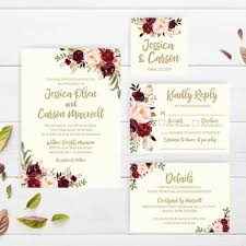 Printable Wedding Invitations With Rsvp Floral Wedding Invitation Pdf Downloadable Wedding Invitations Templates Diy Wedding Invitation