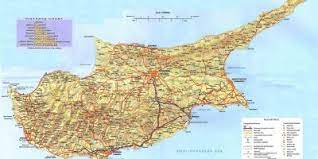 Harta turistica interactiva, rutiera si geografica oferita de directbooking.ro ! Cipru Hartă Hărți Cipru Europa De Sud Europa