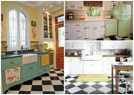 If creating a true retro kitchen, a checkered tile floor is an absolute  must. A classic and timeless option would be to stick with a black and  white color ...