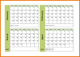 monthly calendar template 2015 4 month calendar template 2015 4month calendar png scope of work