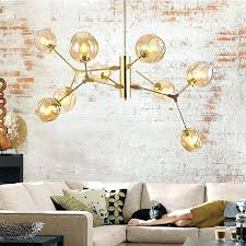 chandeliers chandelier for restaurant gold modern simple creative molecular led glass ball s bayonne sunday