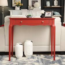 Amazon.com: INSPIRE Q Daniella 1-drawer Wood Accent Office Writing Desk  (Red): Kitchen & Dining