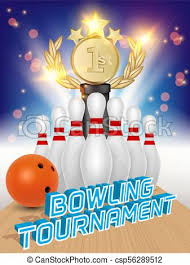 Bowling Event Flyer Template Bowling Tournament Poster Vector Realistic Illustration